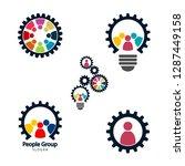 gear teamwork meeting concept... | Shutterstock .eps vector #1287449158