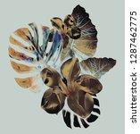 single jungle plant pattern.... | Shutterstock . vector #1287462775