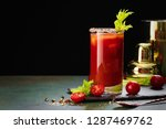 bloody mary cocktail. alcoholic ... | Shutterstock . vector #1287469762