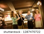 group smoking cigars and... | Shutterstock . vector #1287470722