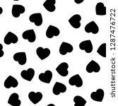 black heart silhouettes... | Shutterstock .eps vector #1287476722