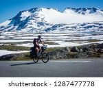 cyclists traveling in the... | Shutterstock . vector #1287477778
