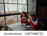 happy and romantic couple in... | Shutterstock . vector #1287488722