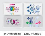 business infographic elements... | Shutterstock .eps vector #1287492898