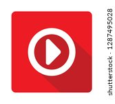 play button red vector icon... | Shutterstock .eps vector #1287495028