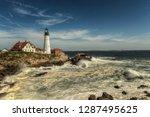 rough seas at portland head... | Shutterstock . vector #1287495625