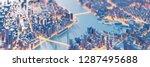 techno mega city  urban and...   Shutterstock . vector #1287495688