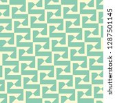 seamless turquoise vintage... | Shutterstock .eps vector #1287501145