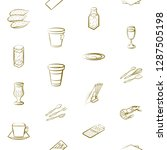 cutlery  drinks  seafood and... | Shutterstock .eps vector #1287505198