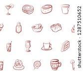 drinks and snacks set.... | Shutterstock .eps vector #1287510652