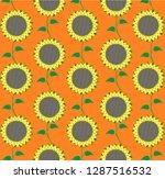 sunflower flower pattern. | Shutterstock .eps vector #1287516532