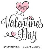 happy valentines day typography ... | Shutterstock .eps vector #1287522598