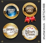 collection of elegant golden... | Shutterstock .eps vector #1287524488