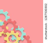 vector cogs gear colorful art... | Shutterstock .eps vector #1287530302