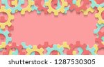 vector cogs gear colorful art... | Shutterstock .eps vector #1287530305
