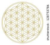 flower of life   sacred geometry   Shutterstock . vector #128753786