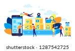 vector illustration  flat style ... | Shutterstock .eps vector #1287542725