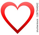 heart symbol icon   red... | Shutterstock .eps vector #1287544042