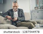 love feeling. smiling handsome... | Shutterstock . vector #1287544978