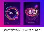 neon flyer. minimal discotheque ... | Shutterstock .eps vector #1287552655