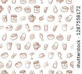 drinks and snacks set.... | Shutterstock .eps vector #1287558172