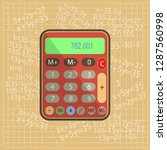 calculator  computer  numerator ... | Shutterstock .eps vector #1287560998