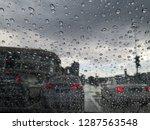raindrops on the car's mirror   Shutterstock . vector #1287563548