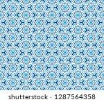 abstract seamless kaleidoscope...   Shutterstock . vector #1287564358