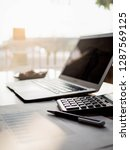 selective focus calculator on... | Shutterstock . vector #1287569125