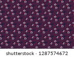 raster seamless colorful floral ... | Shutterstock . vector #1287574672