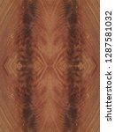 red brown crotch mahogany wood... | Shutterstock . vector #1287581032