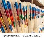 medical records of patients in... | Shutterstock . vector #1287584212
