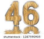 numeral 46  forty six ... | Shutterstock . vector #1287590905
