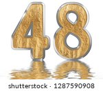 numeral 48  forty eight ... | Shutterstock . vector #1287590908