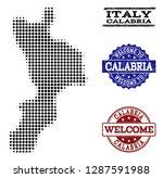welcome combination of halftone ... | Shutterstock .eps vector #1287591988
