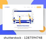 landing page template of... | Shutterstock .eps vector #1287594748