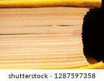 side view of the old yellow... | Shutterstock . vector #1287597358