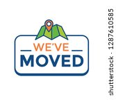 we've moved sign w text... | Shutterstock .eps vector #1287610585