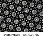 ornament with elements of black ... | Shutterstock . vector #1287628702
