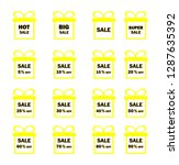 set of yellow sale icon banners ...   Shutterstock .eps vector #1287635392