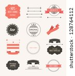 vector illustration. collection ... | Shutterstock .eps vector #128764112