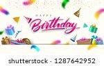 happy birthday typography...   Shutterstock .eps vector #1287642952
