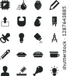 solid black vector icon set  ... | Shutterstock .eps vector #1287643885