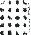 solid black vector icon set  ... | Shutterstock .eps vector #1287645625