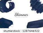 navy blue shimmer bush... | Shutterstock .eps vector #1287646522