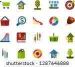 color flat icon set   product... | Shutterstock .eps vector #1287646888
