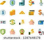 color flat icon set   credit... | Shutterstock .eps vector #1287648178