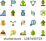 color flat icon set   green... | Shutterstock .eps vector #1287650725