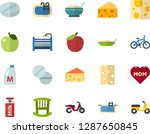 color flat icon set   mothers... | Shutterstock .eps vector #1287650845