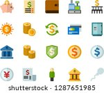 color flat icon set  ... | Shutterstock .eps vector #1287651985